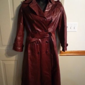 Women's size 14 leather trench coat